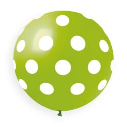 011 Light Green White Polka Dots 31in  Solid Color